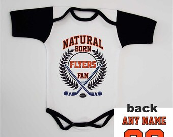 4c15903d9 Flyers Baby Bodysuit Infant Custom Name and Number Shirt Personalized Jersey