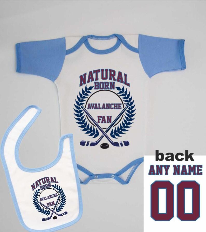 NHL Baby bodysuit Newest fan colorado avalanche kids One Piece jersey