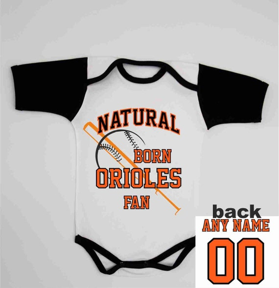 52b49e92e Custom Baby Girl Baseball Romper Baltimore Personalized
