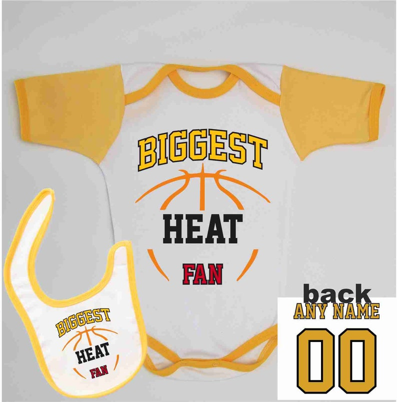 052820c75 Heat Baby Summer Bodysuit Custom Name and Number Infant