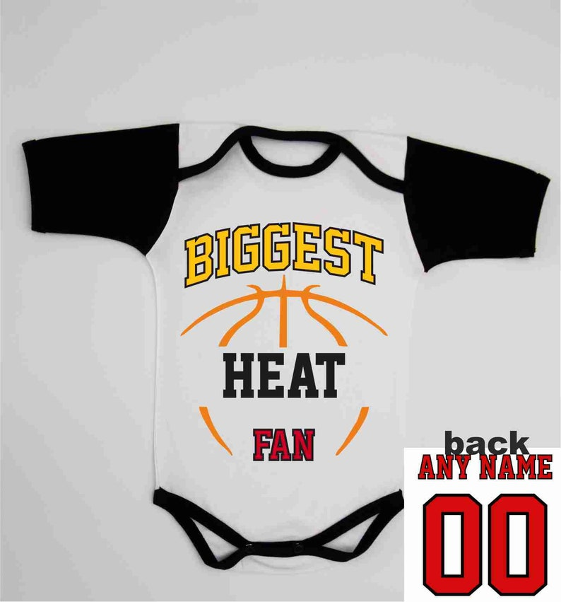 online retailer 10757 1fc2e Newborn Boy Coming home Outfit / Miami Basketball Baby / Custom Heat Jersey  / Baby Basketball One Piece / Toddler Basketball Bib / Baby Gift