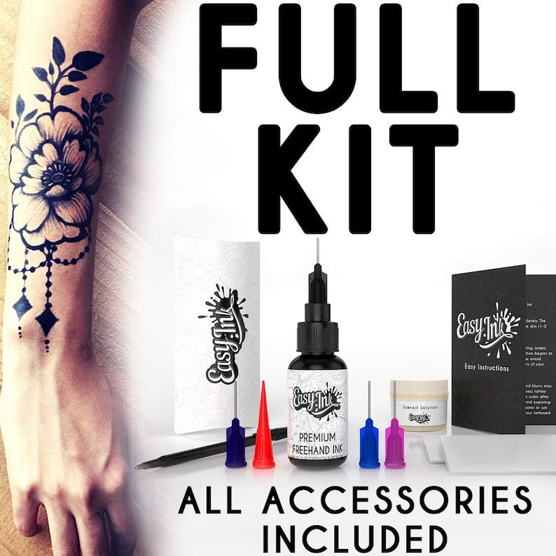 Easy.ink™ Freehand Temporary Tattoo Ink Full kitSUPER DARK | Etsy