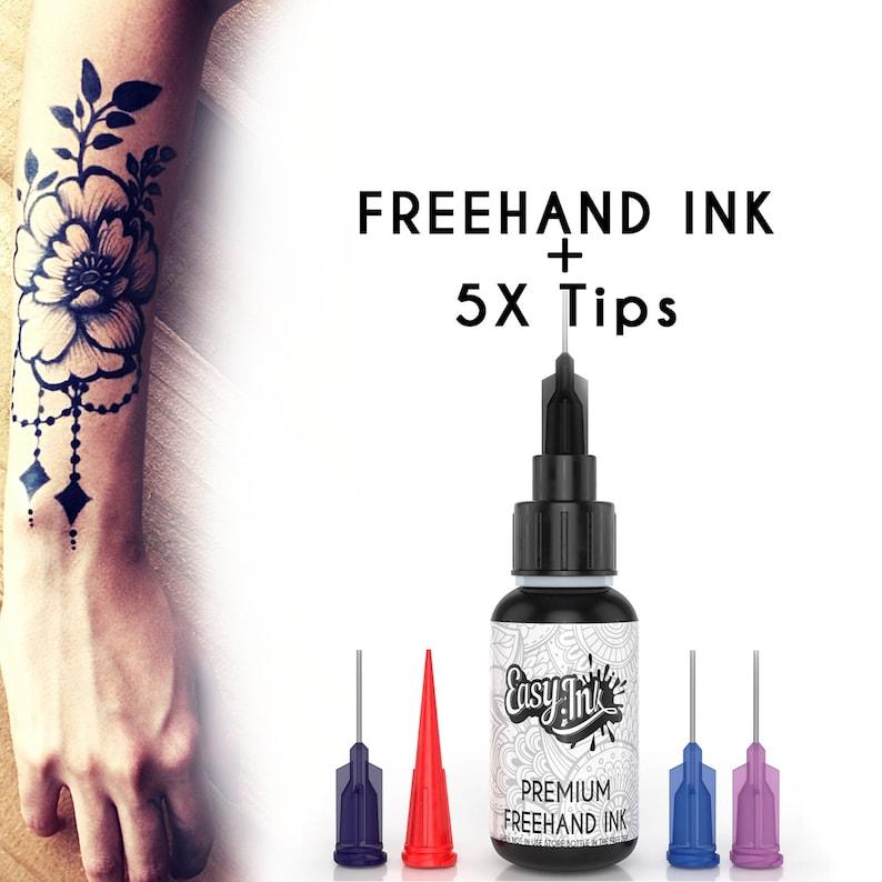 Easy.ink™ Freehand Temporary Tattoo Ink 5X TipsSUPER DARK | Etsy