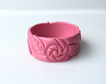 Pink Bakelite inspired  bangle