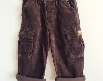 d82c1bb88 Oshkosh Umber Brown Corduroy Kids Shorts / Bgosh Cargo Slouchy Toddler  Elasticated Bloomers Pants / Vintage