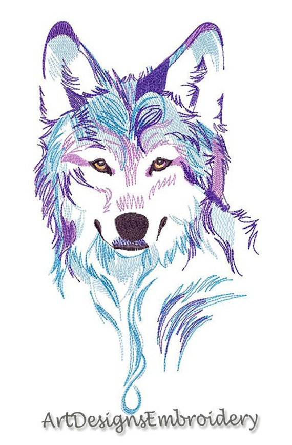 Embroidery Spirit Of The Wolf Machine Embroidery Design Design Wolf Embroidery Design Wolf Pattern Embroidery Wolf Wolf Head Design