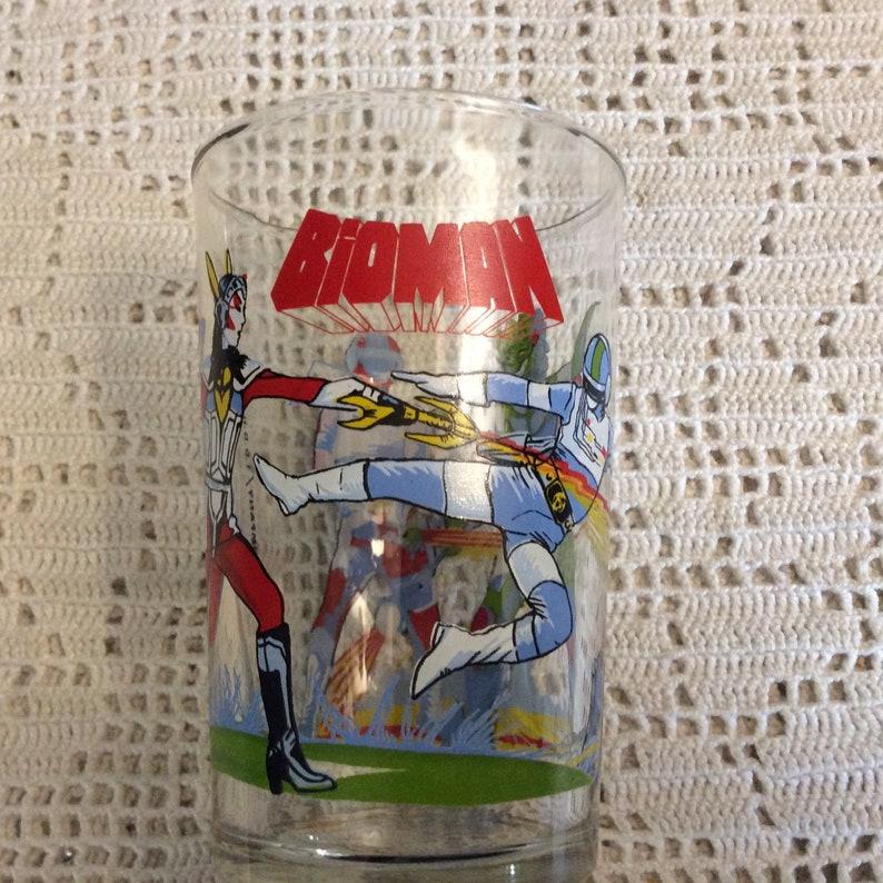 80s Vintage TOEI Animation Cloudenshi Bioman Glass - 1 Verre à Moutarde  Bioman