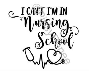 nursing student etsy Cardiology Nurse Practitioner Resume nursing student svg i m in nursing school