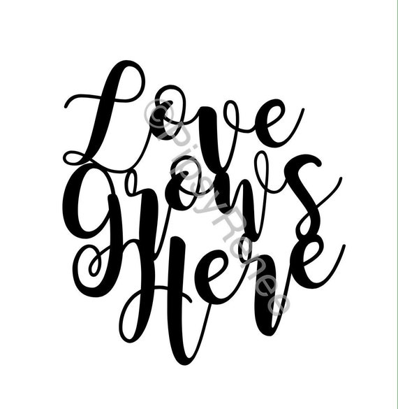 Download Love Grows Here SVG Wedding Cake Topper SVG | Etsy