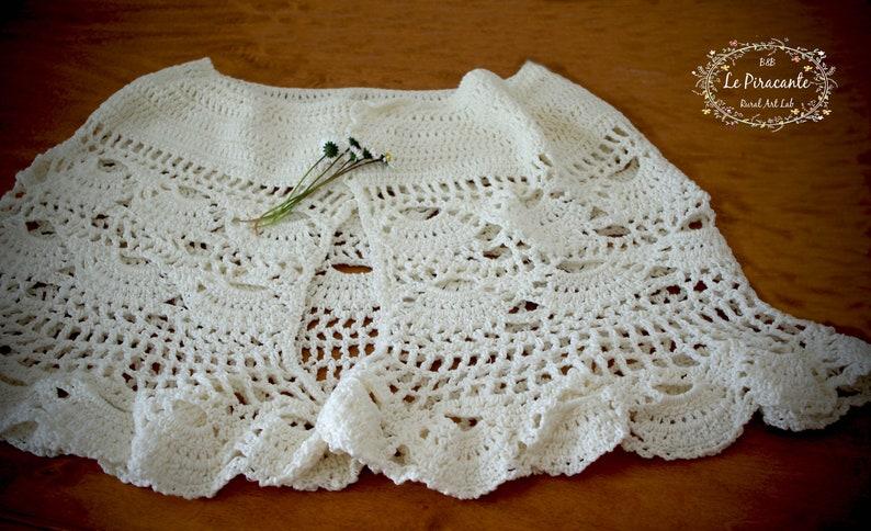 White Crochet Shawl Wrap Cover summer wedding idea