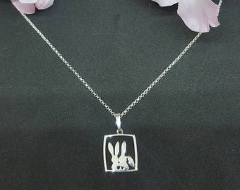 """925 sterling silver necklace """"Bunny Love"""""""