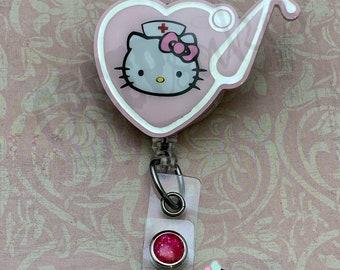 344c4bd01 Nurse Kitty Retractable Badge Reel