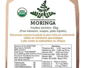 MORINGA leaves 50g organic Organic (moringa tea, moringa leaves)