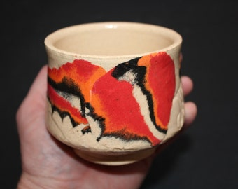 Ceramic tea cup Mokume gane 59