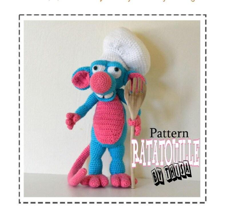 PDF Pattern Amigurumi Ratatouille crochet mouse | Etsy | 758x794