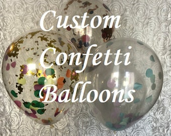 Custom Confetti Balloons -