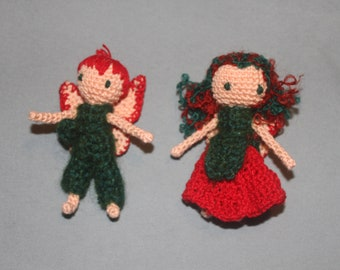 Crochet Rose Fairies