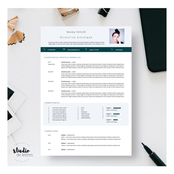 resume template resume template matching cover letter etsy