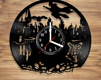 Harry Potter Vinyl Wall Clock Hogwarts Magic Fantasy Novels Handmade Perfect Decorate Home Style UNIQUE GIFT idea for Him Her (12 inches)