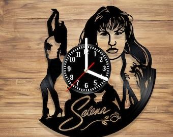 Selena Perez Vinyl Wall Clock Quintanilla Music Singer Queen of Tejano Perfect Decorate Home Style UNIQUE GIFT idea for Him Her (12 inches)
