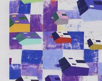 village purple  / 20s Cotton fabric