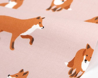 winter fox  - animal pattern /  20's cotton fabric
