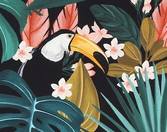 hello toucan - bird pattern / 20s Cotton fabric