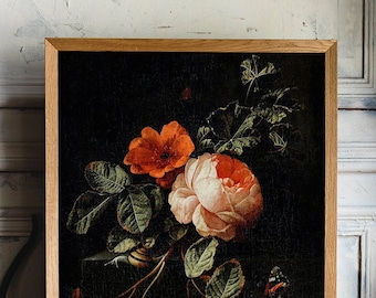 Still Life with Roses by Elias van den Broeck Poster