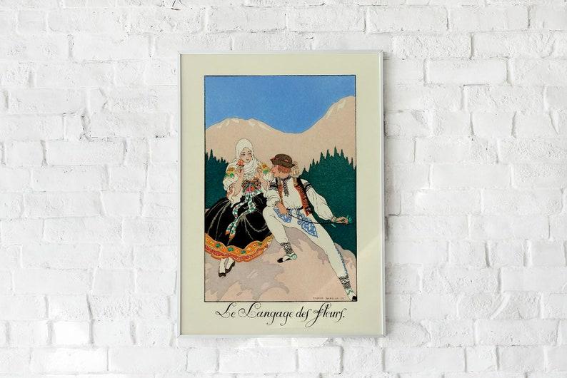 Le Langage des Fleurs Vintage Poster