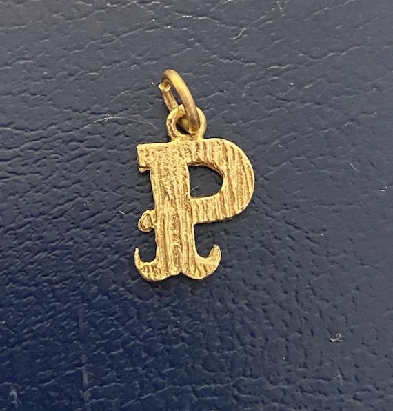 Gold P charm