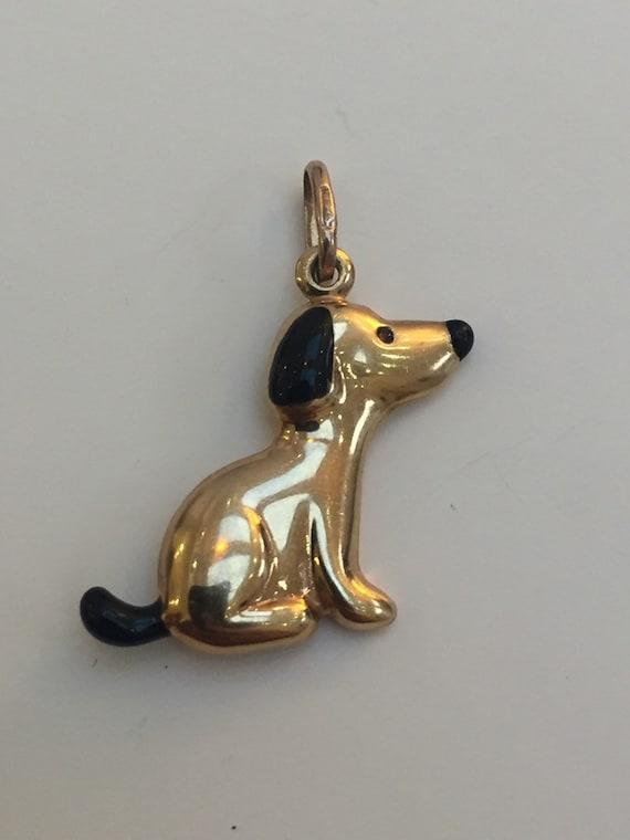 Gold Cartoon Dog Pendant