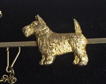Gold Dog Brooch