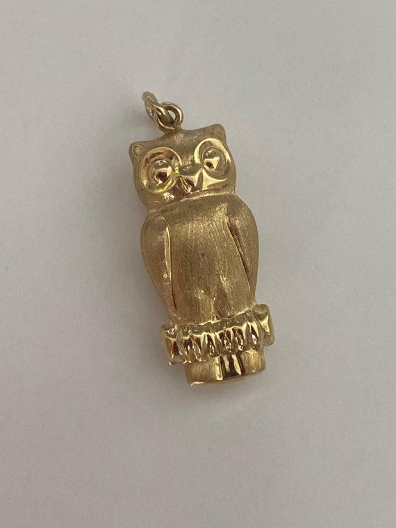Gold Owl Charm