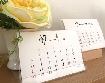 Calendar,Desk calendar,Japanese ver.,Japanese calligraphy,syodo,YoushinTanabe,Japan,Design,Art