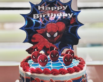 Spiderman Cake Decorations Decorating Kit Topper Birthday Candles