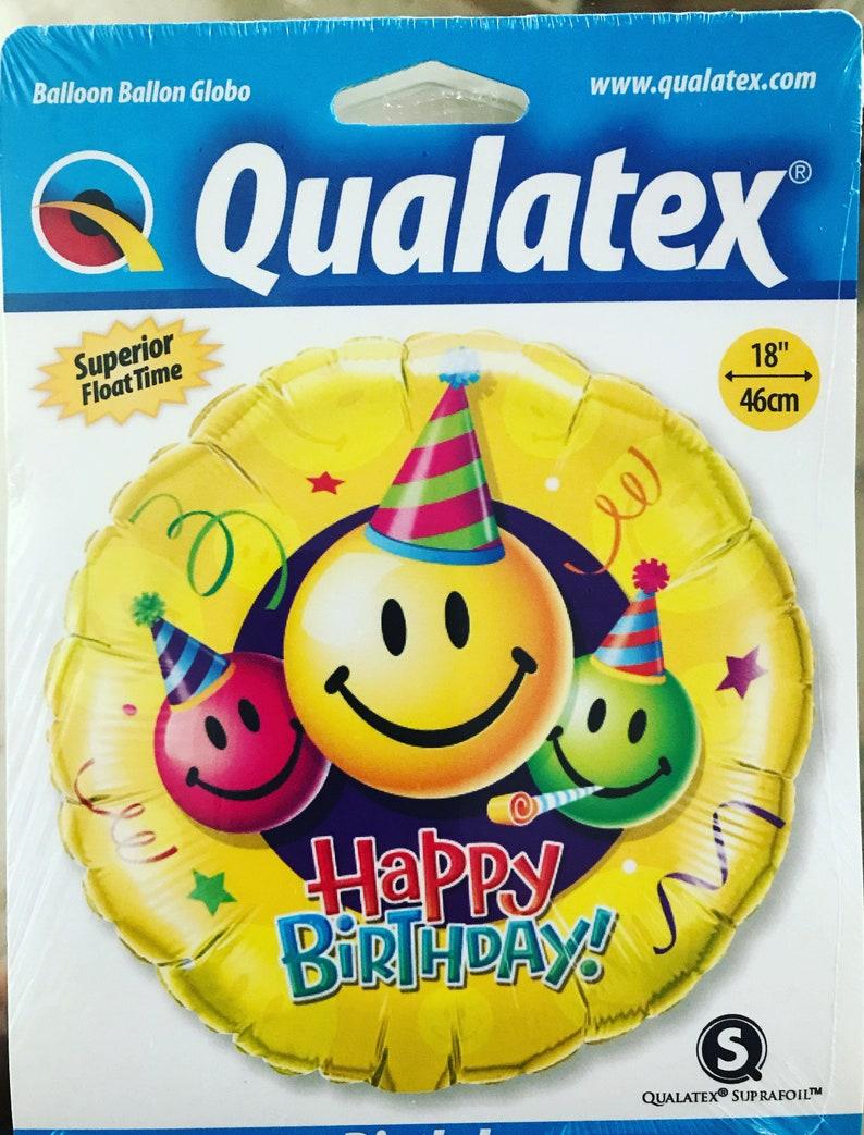 18 Happy Birthday Smiley Face Emoji Foil Balloon