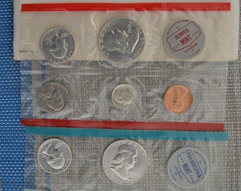 1963 PD U.S. Mint Set with Envelope