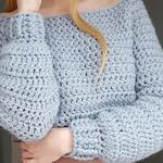 Crochet jumper PATTERN, The high in fibre Jumper