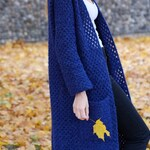 Long Crochet Cardigan PATTERN by @highinfibre