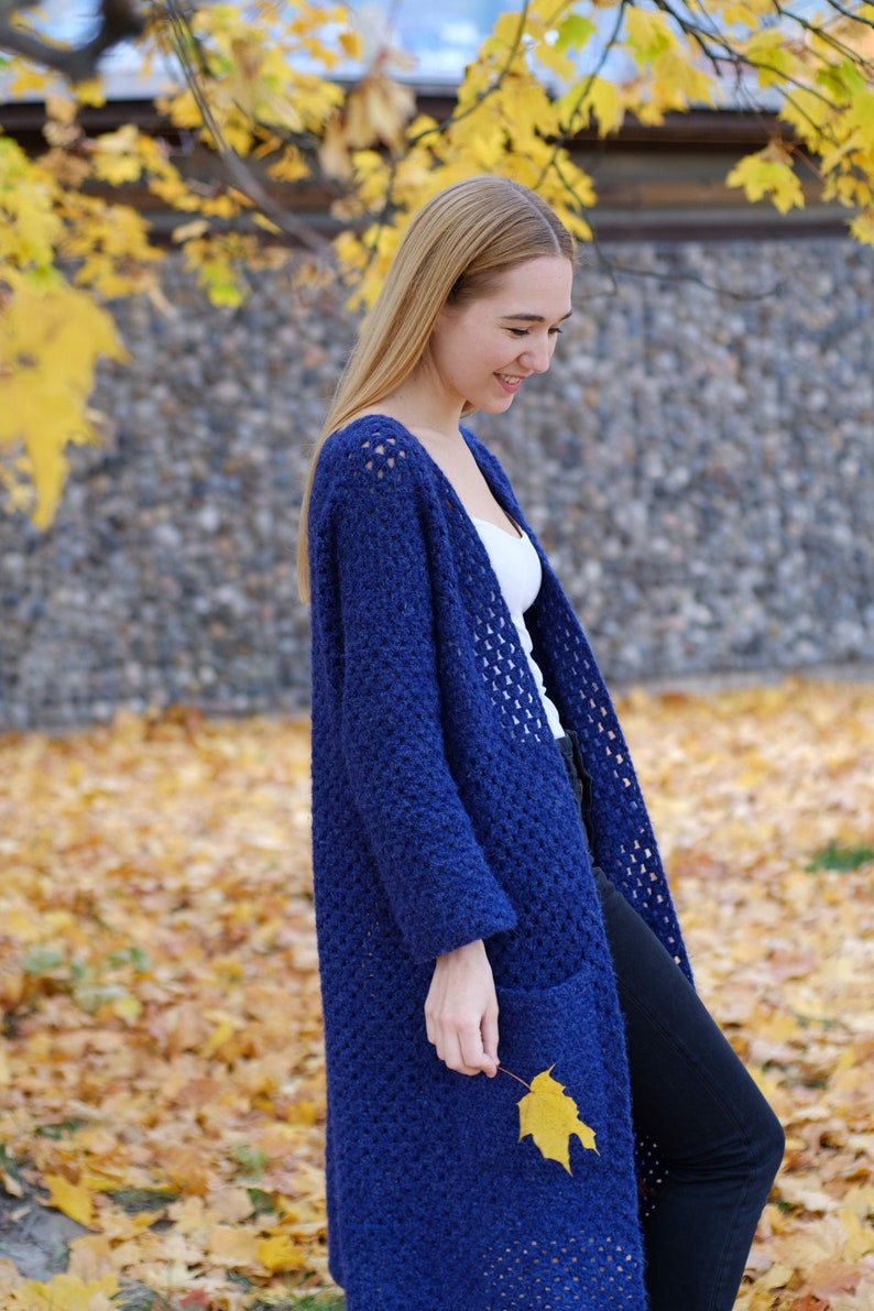 Long Crochet Cardigan PATTERN by highinfibre image 0