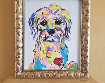 "Shaggy Dog Painting ""Douglas"""