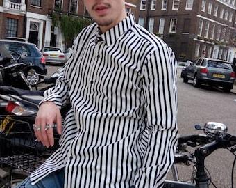 Bold Striped Long Sleeve Cotton Shirt