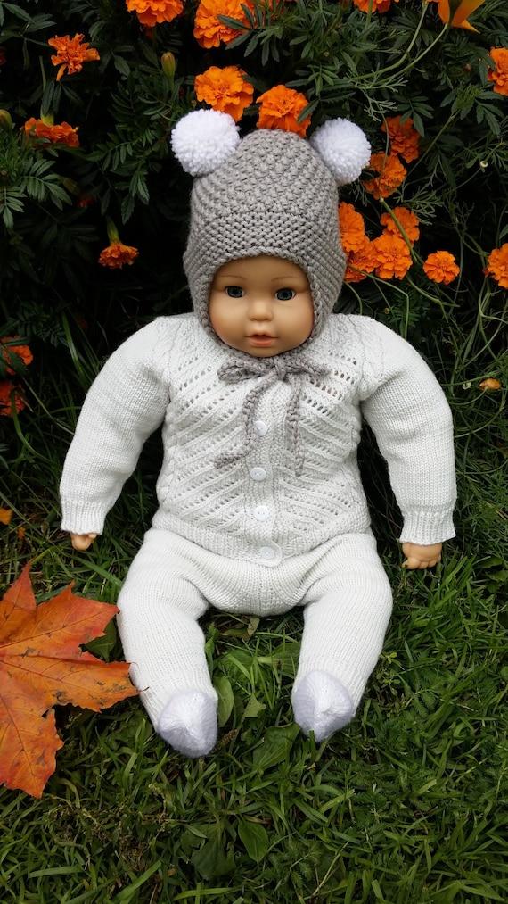 8a39de966241 Chaud lhiver bébé bonnet tricot bonnet enfant avec   Etsy