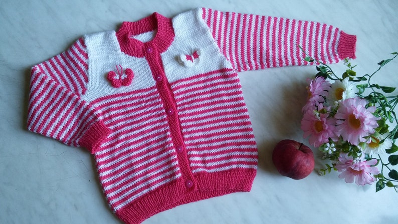 0f87f78c6 Hand Knit Wool Sweater for Baby  Knitted Cardigan for Kid with