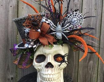 Skeleton centerpiece~Skull centerpiece~Skull floral decor~Halloween Centerpiece~Skeleton floral~ Halloween decor~Skull decor~Fall decor