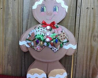Gingerbread boy wreath accent~Gingerbread boy decor~Gingerbread boy~Wreath attatchment~Christmas wreath accent~Christmas decor