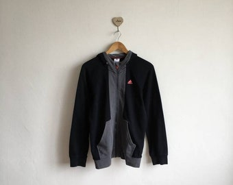 Vintage Jacke von Zyklus Hit voll Reißverschluss Jacke mit Nummer gedruckt braun Nike Adidas Windbreaker