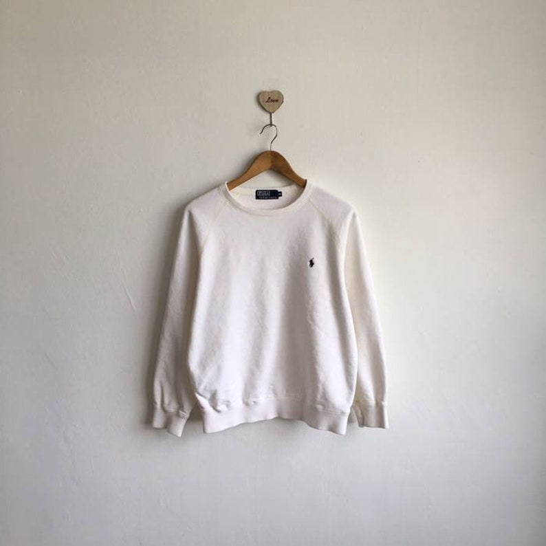 8ff87047d8aa Vintage 90s POLO RALPH LAUREN Small Pony Sweatshirt Pullover