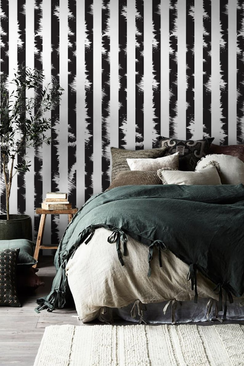 Self Adhesive Wallpaper Peel and Stick Wallpaper Removable Wallpaper Lines Wallpaper Wall Decor Stripes Wallpaper Striped Wallpaper