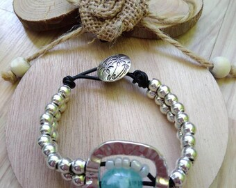 Unode50 bracelet with sea water stone
